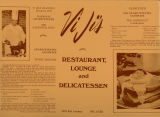 Front of ViJi's Restaurant, Lounge and Delicatessen menu